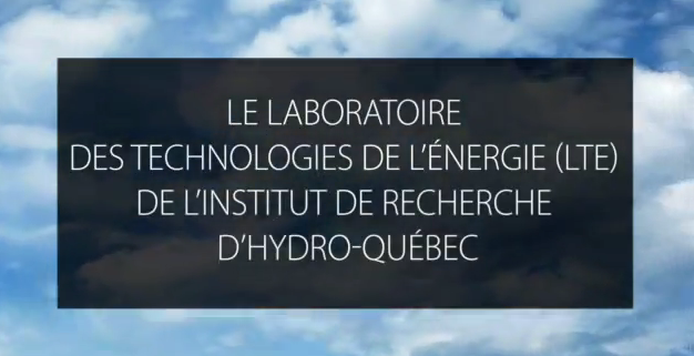 Michel Dostie, Manager and End-use Techologies shares his experience working at the LTE (in French only).